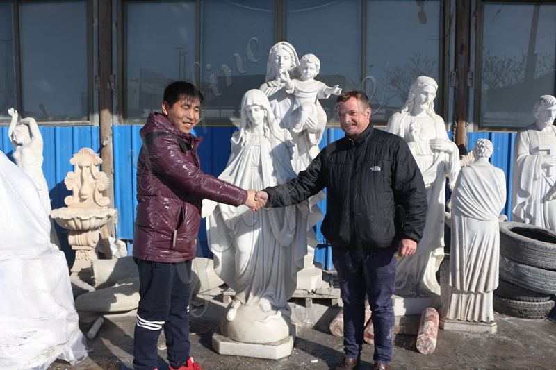 High Quality Marble Virgin Mary Statue Religious Garden Statues Wholesale RLG-01 (5)