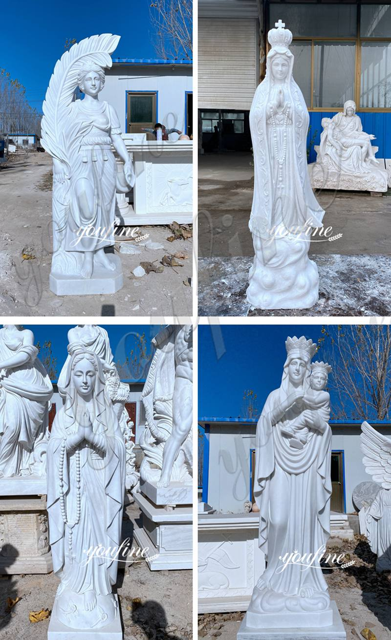 High Quality Marble Virgin Mary Statue Religious Garden Statues Wholesale RLG-01 More Designs