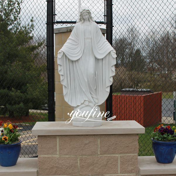 Life Size Outdoor Catholic Virgin Mary Marble Statue for Sale RLG-03