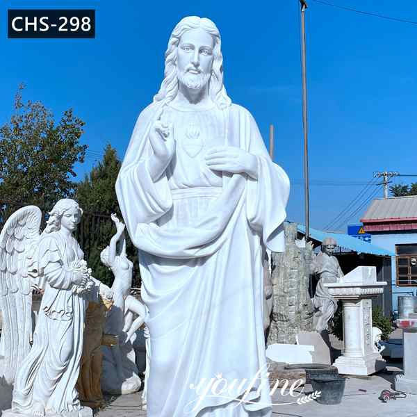 Life Size Marble Jesus Statue Catholic Garden Statue for Sale CHS-298