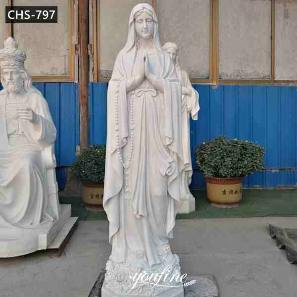 Life Size Our Lady of Lourdes Statue with Bernadette Catholic Garden Statue for Sale