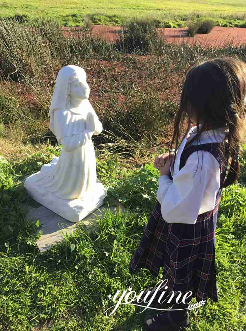 Life Size Our Lady of Lourdes Statue with Bernadette Catholic Garden Statue for Sale Customers Feedback