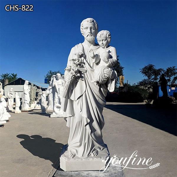 Catholic Marble Saint Joseph Statue Religious Sculpture for Sale CHS-822