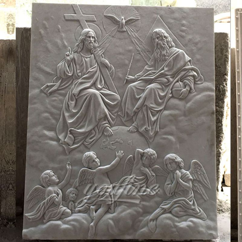 Famous Wall Decor Holy Trinity Marble Church Relief for Sale CHS-612