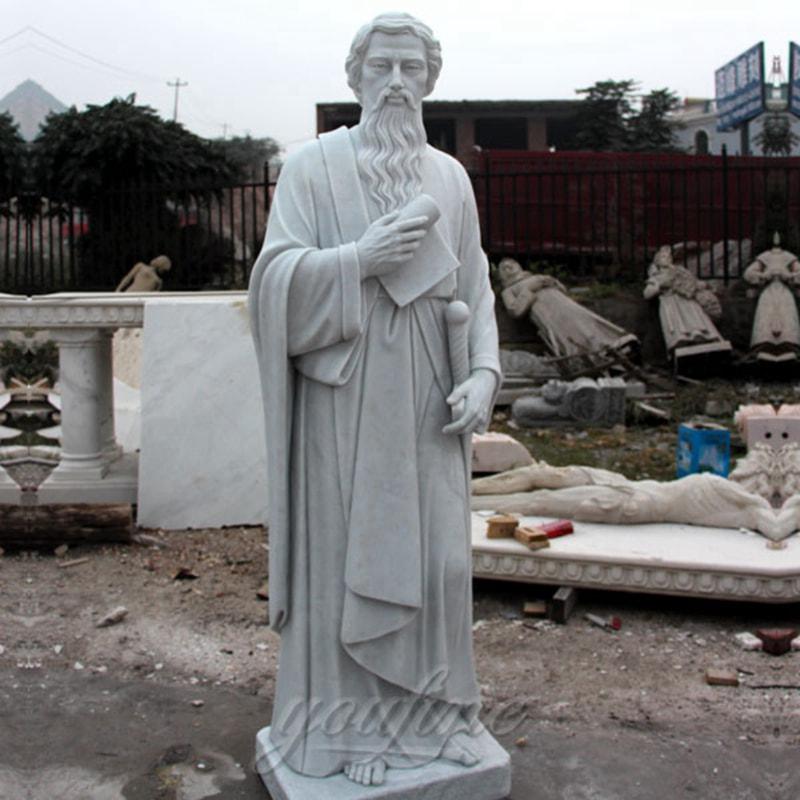 Handmade Catholic Apostle Marble Saint Paul Statue Church Decoration CHS-250