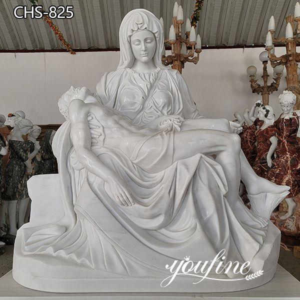 Catholic Natural Marble Pieta Statue Church Decor for Sale CHS-825