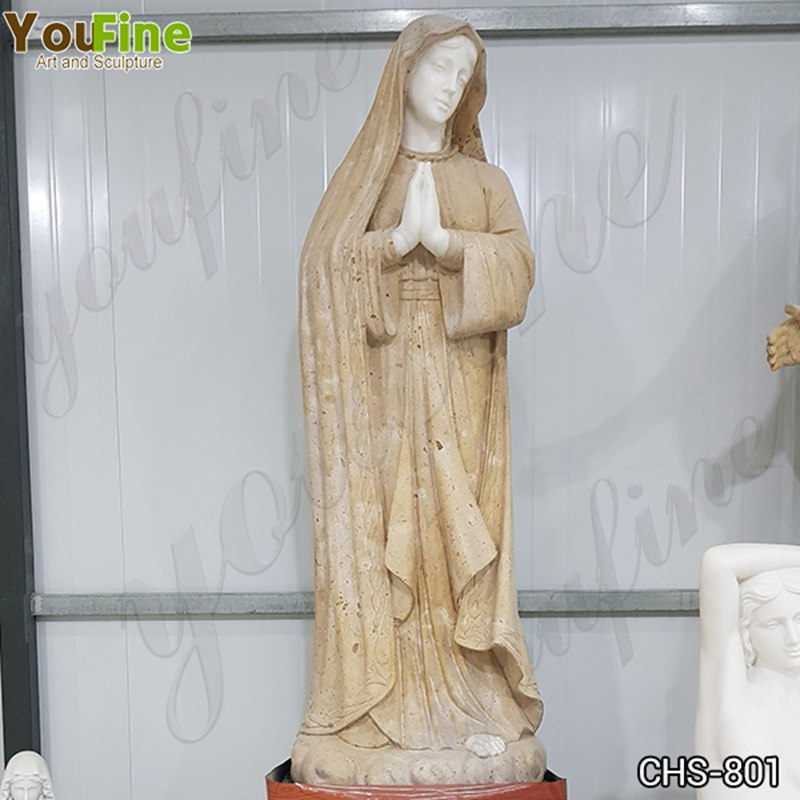 Handcarved Marble Virgin Mary Statue for Church for Sale CHS-801