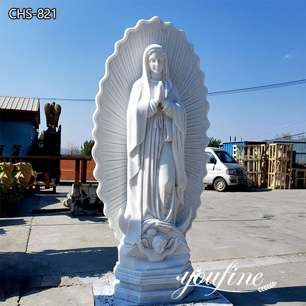 Natural Marble Our Lady of Guadalupe Statue for Sale CHS-821